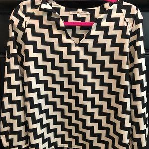 Chevron black and white blouse.